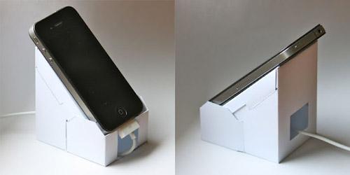 Eco-iP4 : le support iPhone en papier