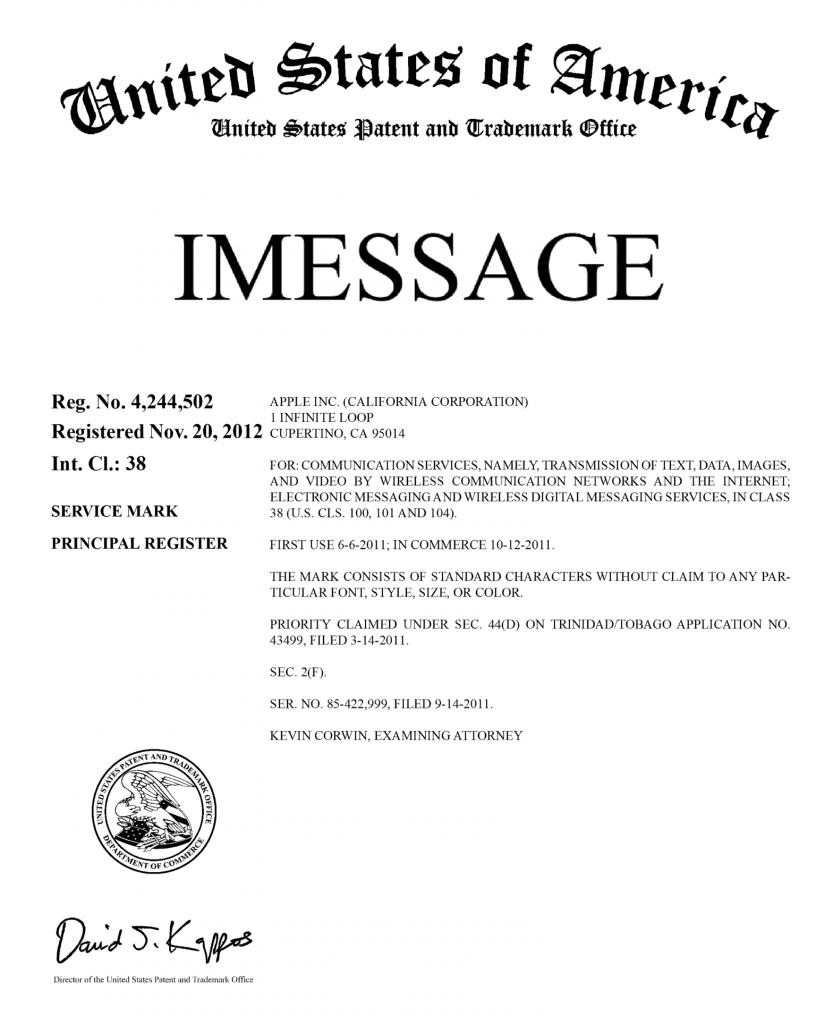 iMessage-marque-deposee