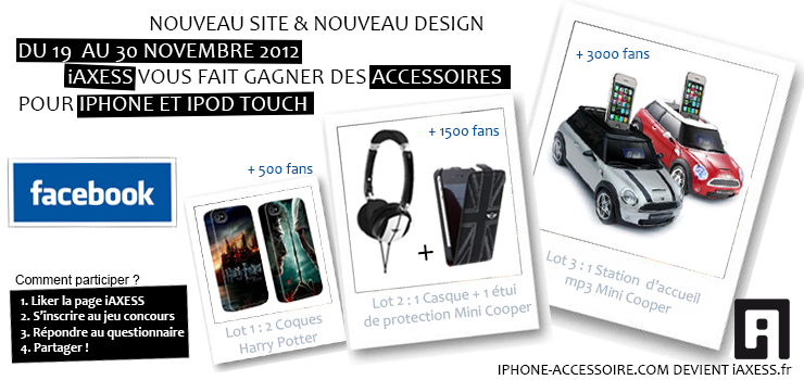 Concours iAXESS : Gagnez une enceinte Mini Cooper iPhone et de nombreux autres cadeaux !