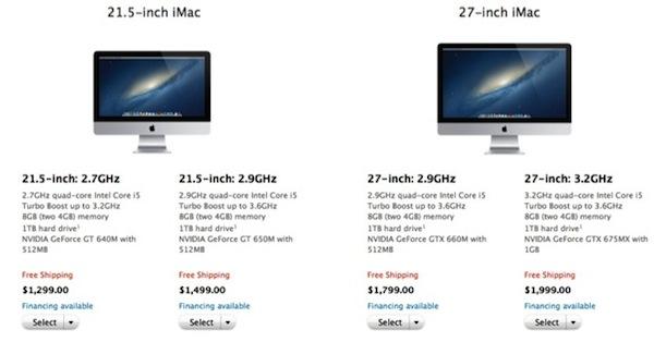 iMac : en vente sur l'Apple Store