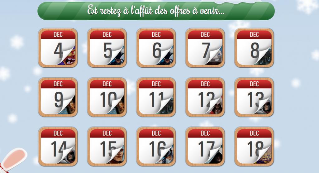Site internet calendrier noel ubisoft