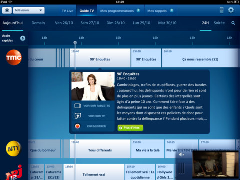 bbox tab ipad - Bbox Tab : la TV de Bouygues Telecom sur iPad