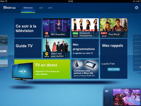 Bbox Tab : la TV de Bouygues Telecom sur iPad