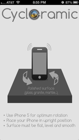 cycloramic - Cycloramic : créer des panoramas iPhone 5 avec le vibreur