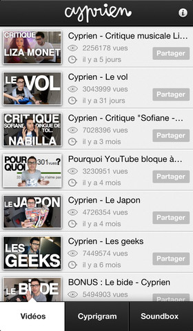 cyprien iphone - Cyprien : télécharger l'application iPhone