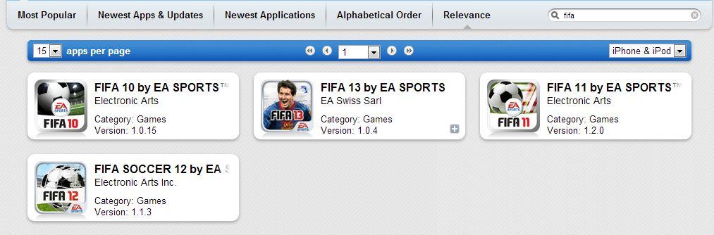 fifa apptrack - AppTrackr : l'App Store gratuit