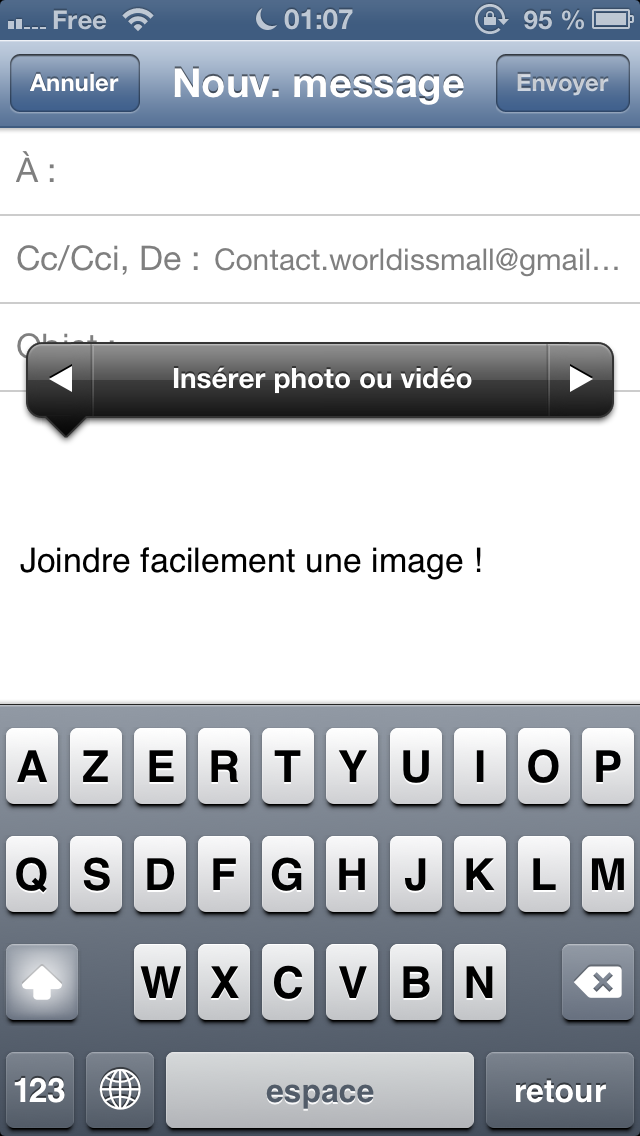 joindre image mail iphone - Joindre une photo à un mail iPhone, iPad, iPod Touch