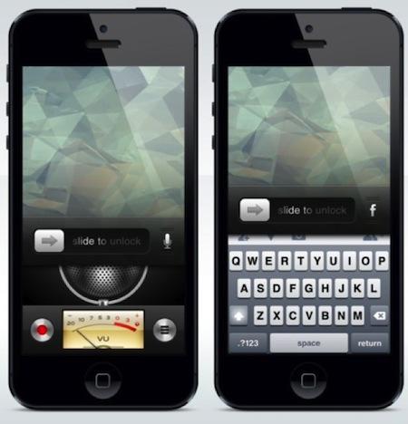 lockscreen raccourcis concept - Concept : LockScreen pour iOS 7