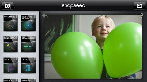 snapseed ipad - SnapSeed : désormais gratuite pour concurrencer Instagram