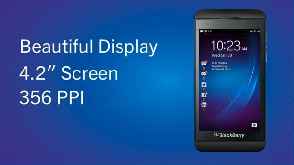 BlackBerry Z10 - BlackBerry Z10 : le nouveau smartphone sous Blackberry 10 dévoilé