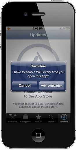 carnitine tweak - Carnitine : Activer le wifi à l'ouverture d'une application