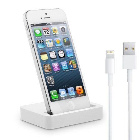 Dock iPhone 5 et iPod Touch 5G Lightning Blanc par Mobilefun