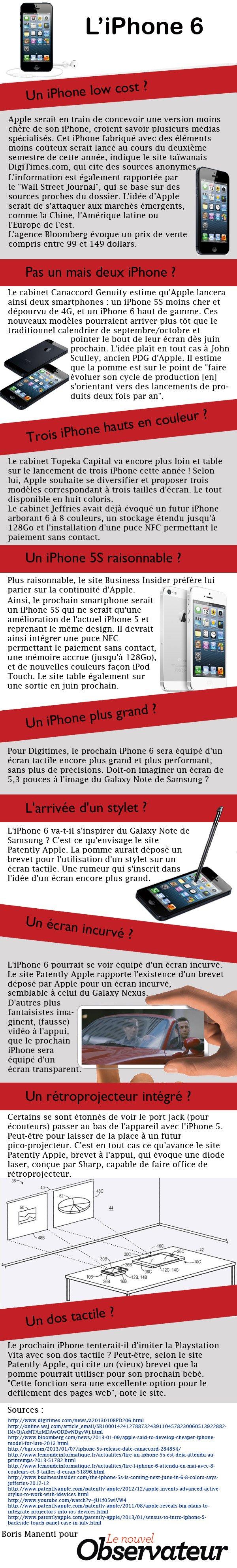 iphone 6 iphone 5s - iPhone 6 et iPhone 5S : point sur les rumeurs