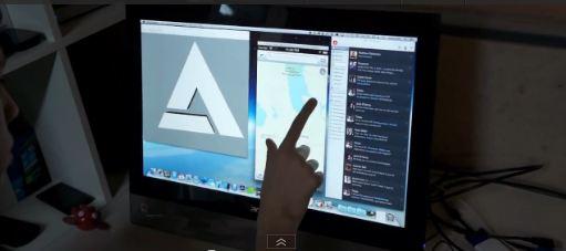 Insolite : OS X Mountain Lion sur un écran tactile