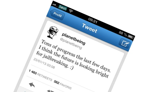 Planetbeing : le Jailbreak Untethered iOS 6 se rapproche