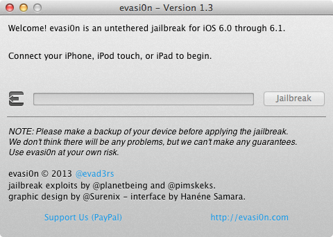 Evasi0n 1.3 : jailbreak iOS 6.1.1 iPhone 4S