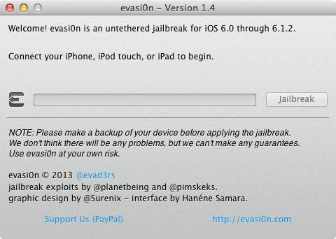 Evasi0n 1.4 : Jailbreak Untethered iOS 6.1.2 iPhone, iPad, iPod Touch