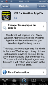 IMG 04422 169x300 - iOS 6.x Weather App Fix : Corriger le bug météo du jailbreak evasi0n