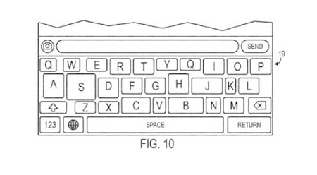 brevet clavier ios - Brevet Apple : un clavier iOS adaptable