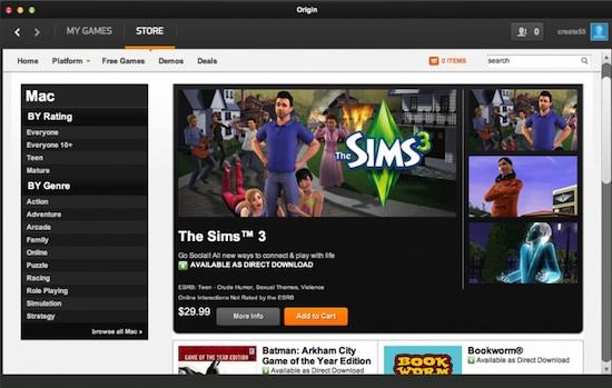 Origin sur Mac : la plateforme EA désormais compatible