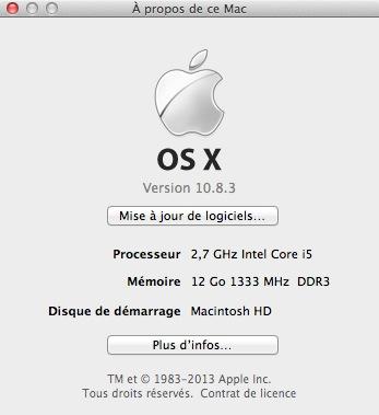OS X Mountain Lion 10.8.3 enfin disponible
