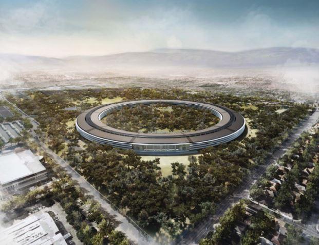 """apple vaisseau spatial - Apple : son campus """"Vaisseau spatial"""" pour 2016"""