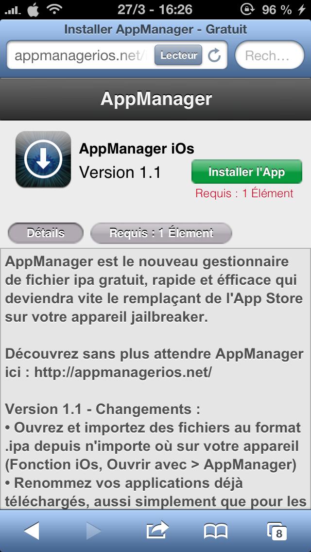 AppManager iOS : télécharger des applications iPA facilement