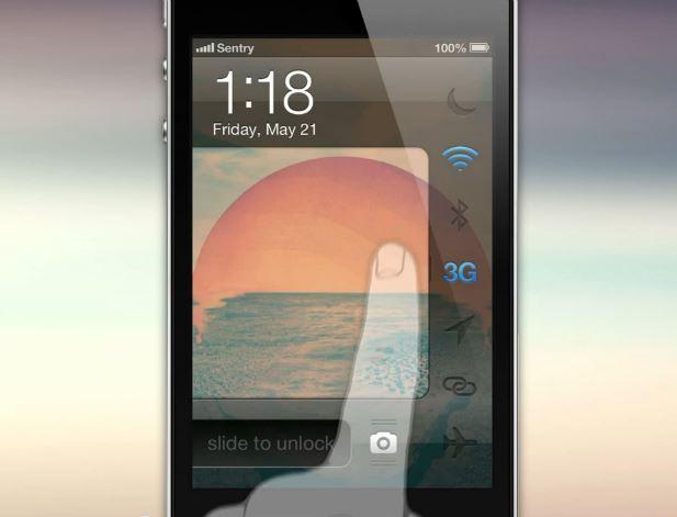 Concept iOS 7 : des raccourcis depuis le lockscreen