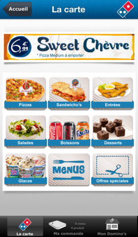 dominos pizza carte iphone - Domino's Pizza France : enfin l'application iPhone