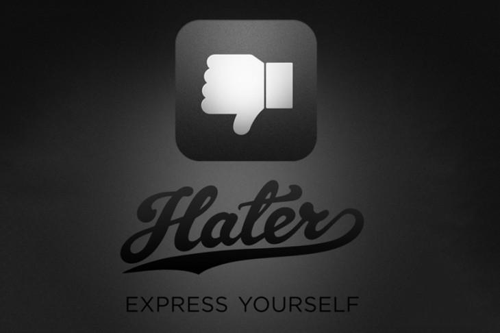 Hater : l'application de partage de ce que l'on déteste