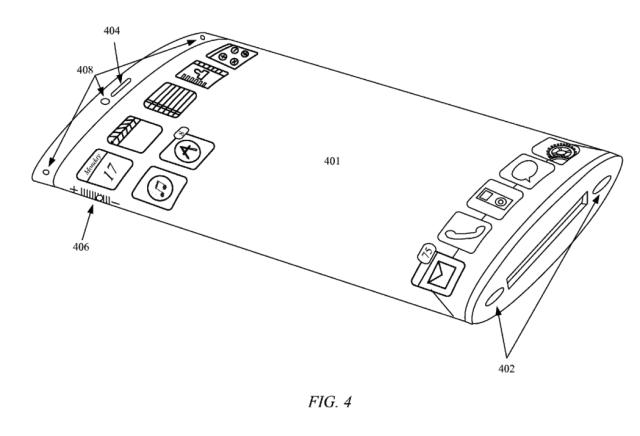 Brevet : un écran incurvé et enveloppant pour l'iPhone