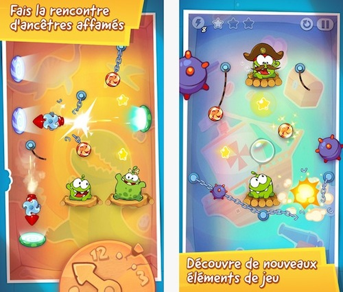 Cut the Rope : Time Travel disponible sur l'App Store