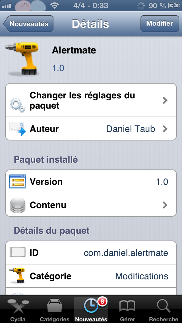 Alertmate : animer ses alertes pop-up sur iPhone