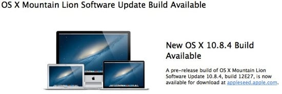 OS X Mountain Lion 10.8.4 bêta 1 disponible