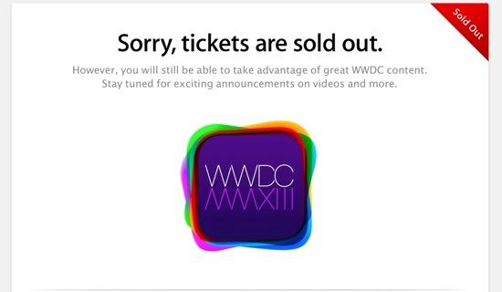 WWDC 2013 : Sold Out en seulement deux minutes