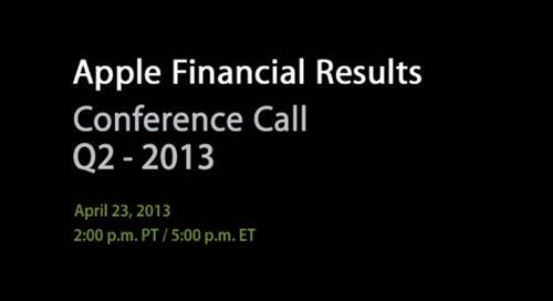 Apple : les résultats financiers du Q2 2013 le 23 avril