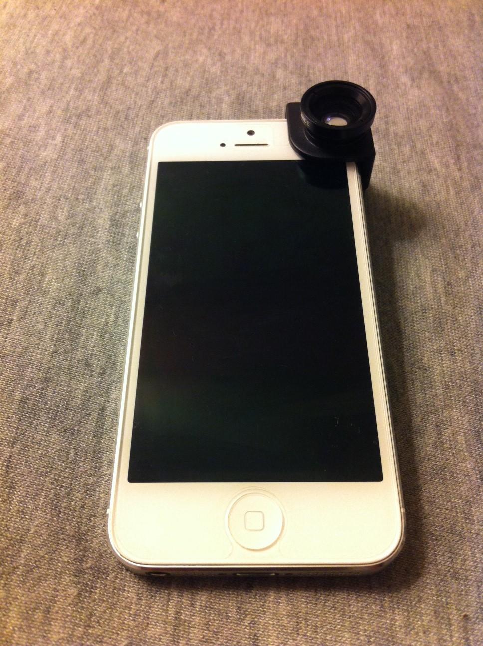 kit objectif iphone 5 avant.JPG - Test : Kit objectif photo 3 en 1 pour iPhone 5