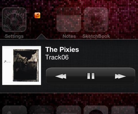 MusicWidget : accéder au contrôle de la musique depuis l'icône Musique