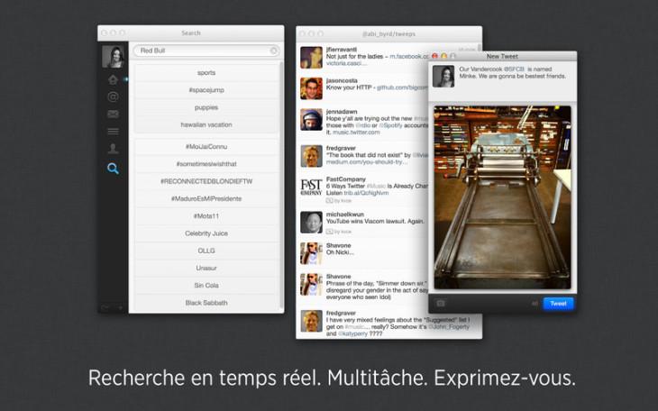 Twitter 2.2 pour mac : nouvelle mise à jour écran rétina