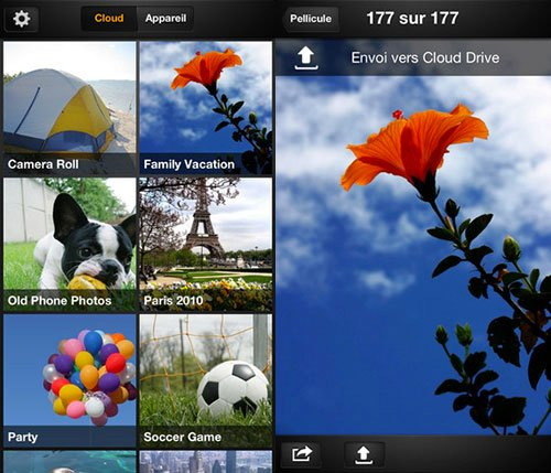 Amazon Cloud Drive Photos disponible sur l'App Store