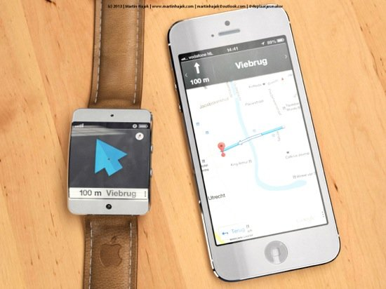 iWatch : concept avec système de navigation GPS
