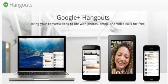 Hangouts : la messagerie instantanée de Google