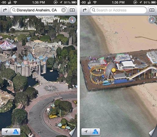 Plans iOS : De nouvelles villes californiennes en 3D