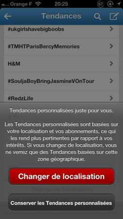 Twitter 5.6 sur iOS : ajout des tendances géolocalisées