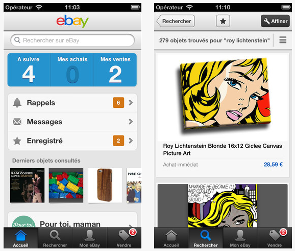 eBay Mobile : mises à jour des applications iPhone (3.0) et iPad (2.3)