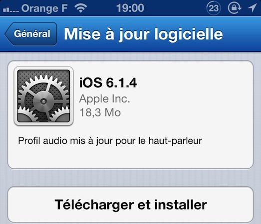 iOS 6.1.4 : disponible pour iPhone 5