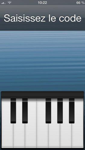 Piano Passcode : déverrouiller son iPhone en musique