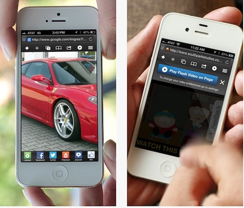 Skyfire : regarder des vidéos flash sur iPhone et iPad