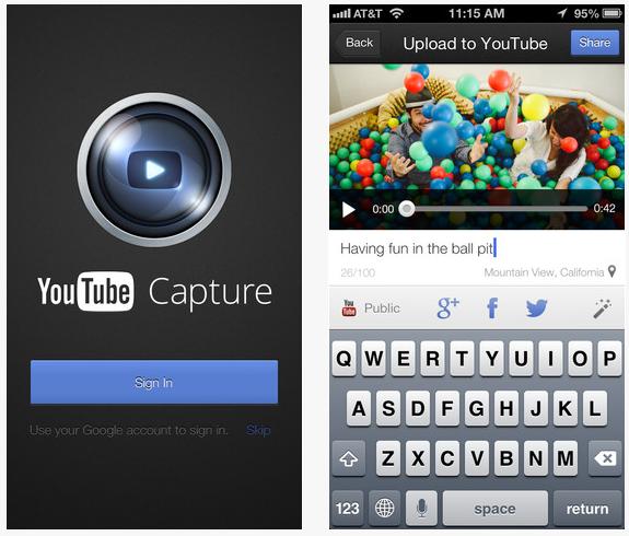 Youtube Capture : compatibilité iOS 7 et améliorations vidéo
