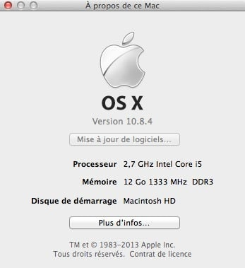 Mac : OS X 10.8.4 enfin disponible
